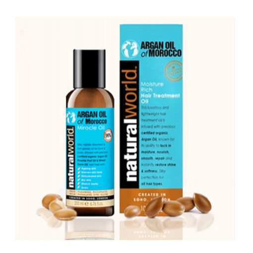 Picture of Λάδι Αναδόμησης Μαλλιών Argan Oil of Morocco Natural World 100 ml