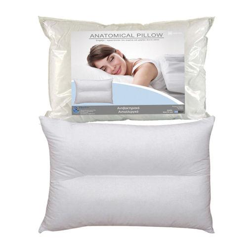 Picture of Ανατομικό Μαξιλάρι Ύπνου Σκληρό 50 x 70 cm Simple White Fiber